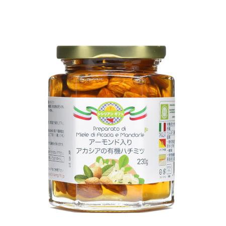 アーモンド入り有機アカシア蜂蜜
